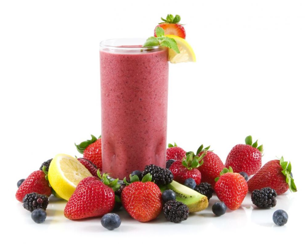 Placenta berry smoothie