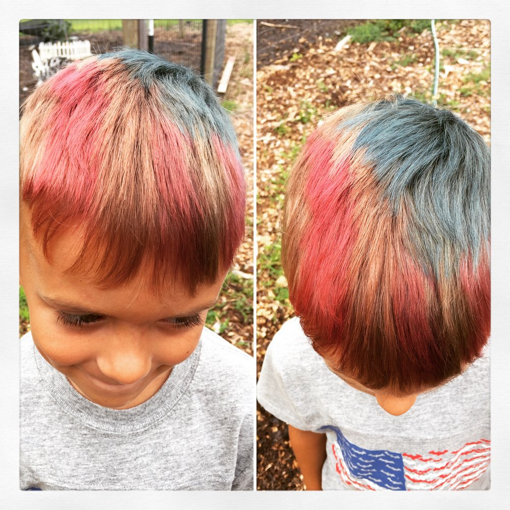 Temporary Color - Red and Blue (American Flag - 4th of July)