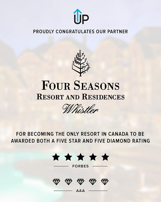 UPRISE Performance is proud to align with Four Seasons Resort and Residences of Whistler BC Canada, and having been just crowned the only resort in all of Canada to earn 5 Stars and 5 Diamonds- #livelimitless #poweredbyuprise thanks @tylermcgowan