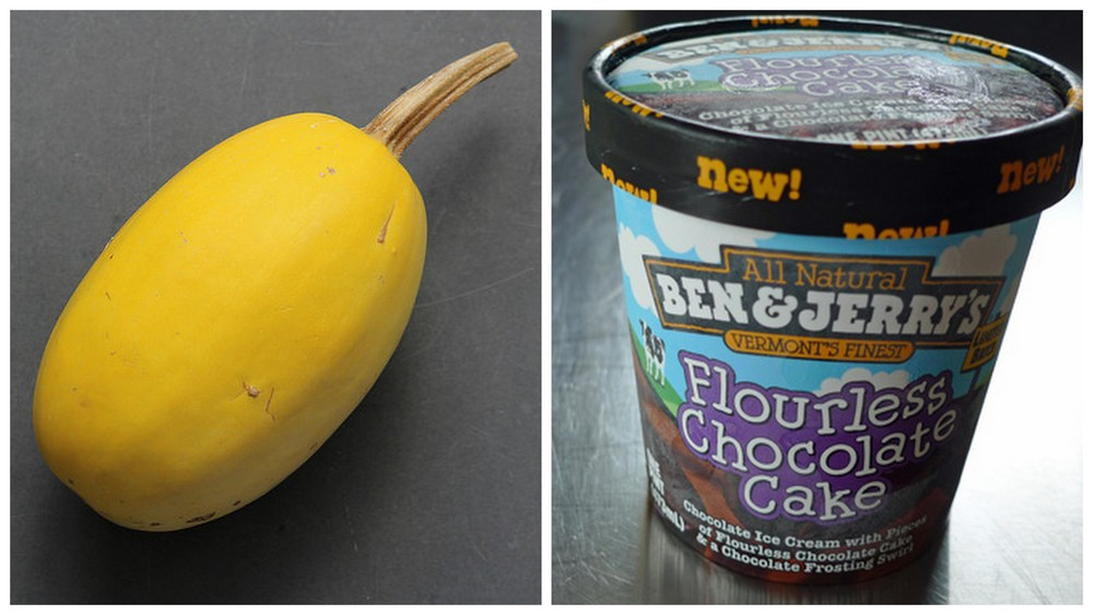 Spaghetti squash and pint of Ben & Jerry's.