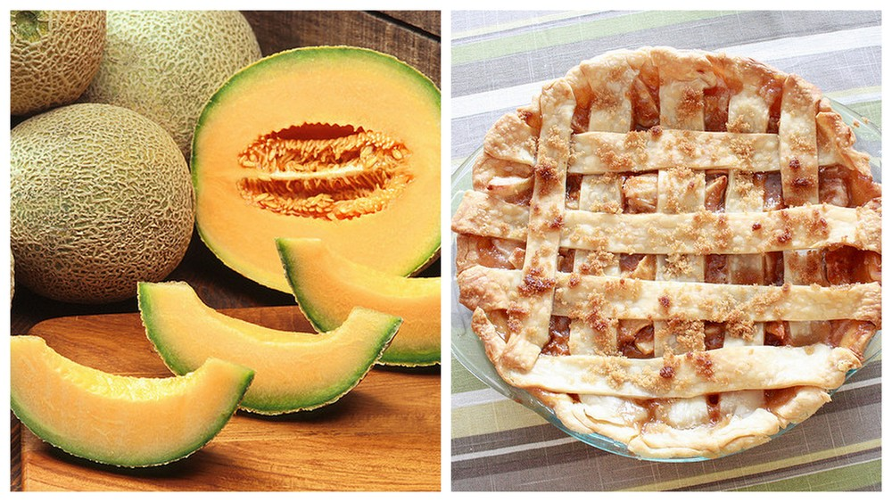 Cantaloupe and Apple pie.