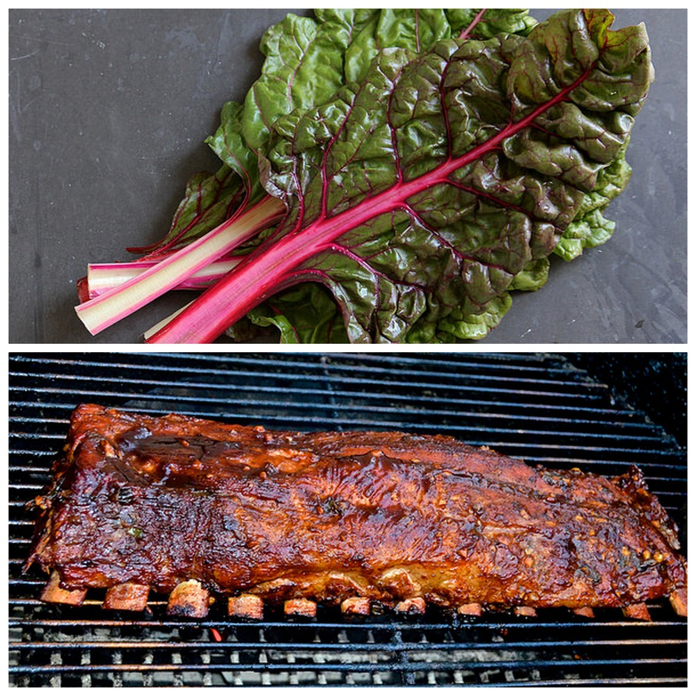 Swiss chard and ribs.