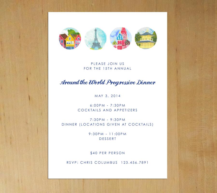 Great Progressive Dinner Party Invitations Gallery - Invitation Card ...
