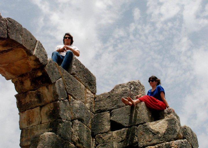 ruins rapelling, morocco
