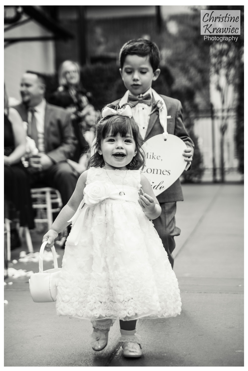 These two :)  Adorable flower girl and ring bearer