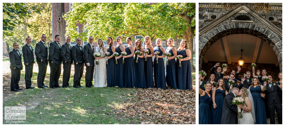 We headed to Moravian College, where Jesse went to school, to grab our Bridal Party shots