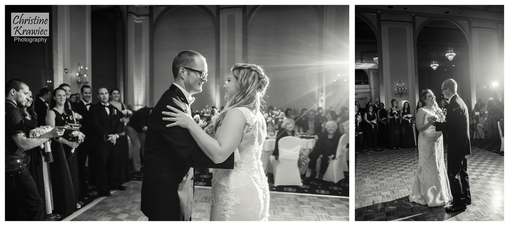 Jesse and Jessica share their first dance
