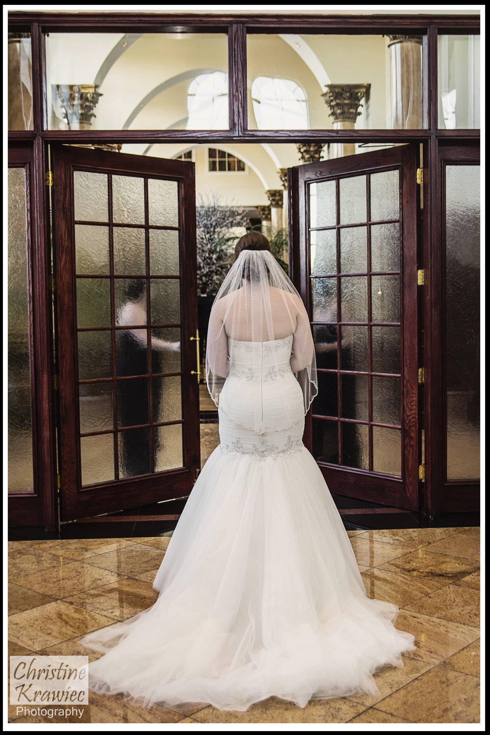 I was ecstatic on how dramatic we were able to make the First look with the double doors opening!