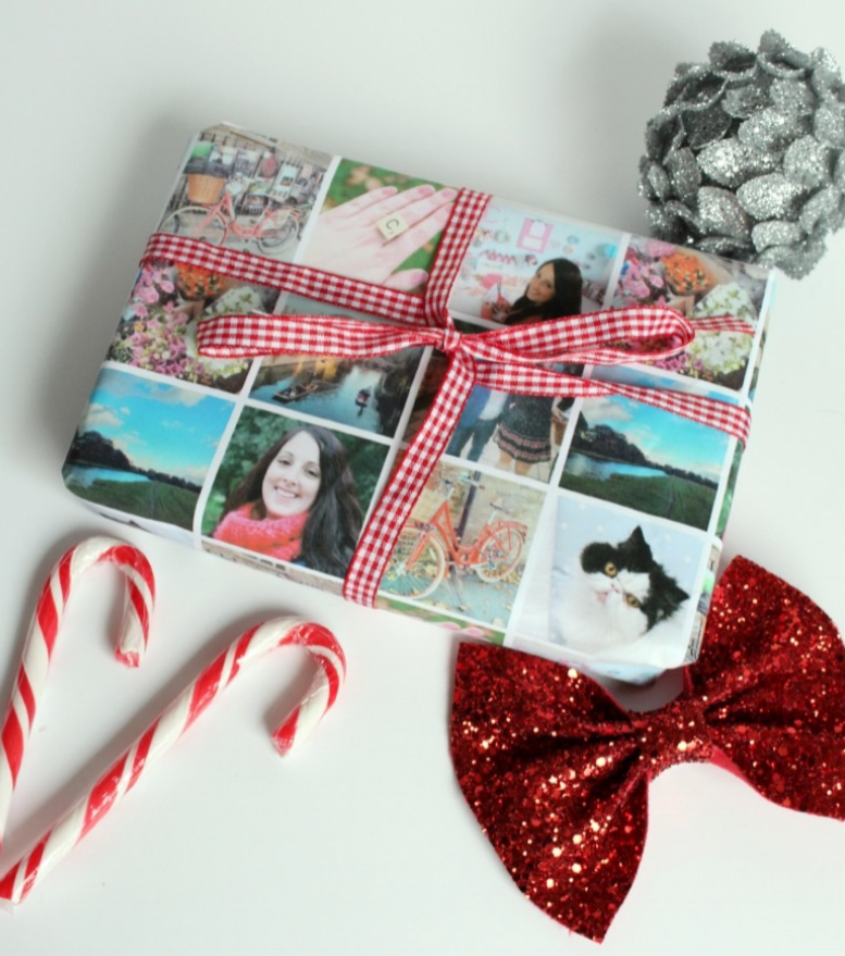 CUSTOM PERSONALIZED WRAPPING PAPER FROM SOCIAL MEDIA FEEDS