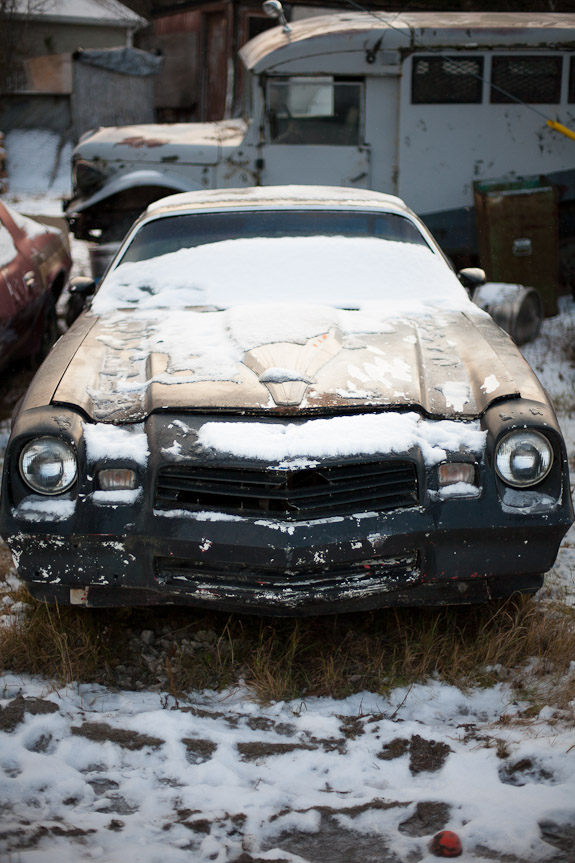 junk car snow