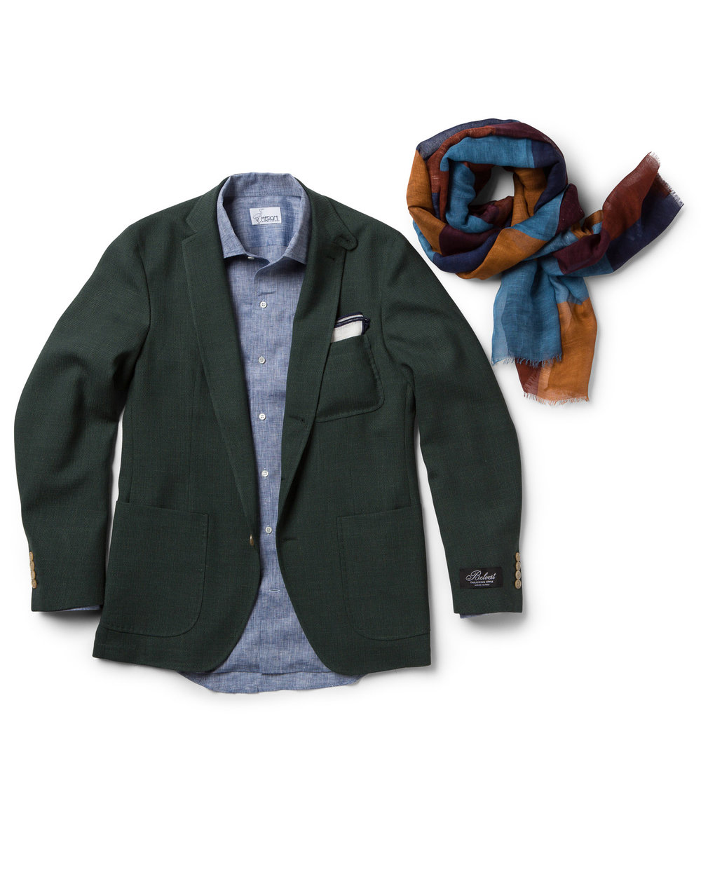 Mens coat and scarf
