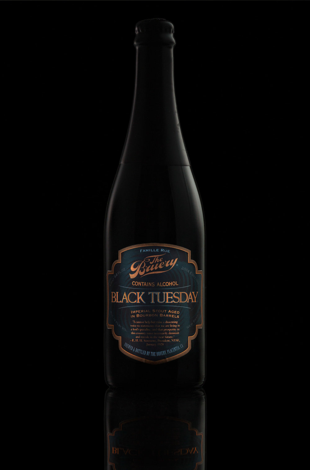 Black Tuesday Imperial Aged Stout by The Bruery, Orange County, CA