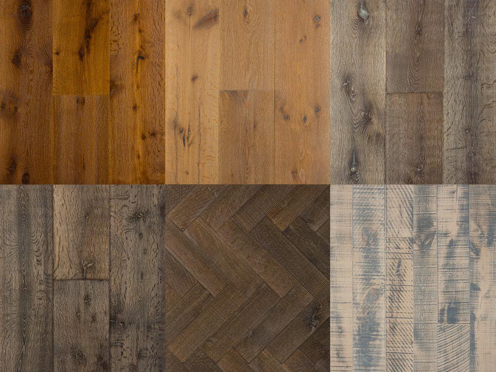 Collage of hardwood floors
