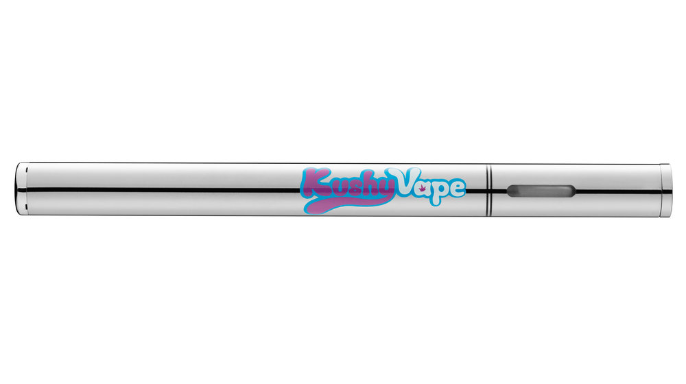 Vape Pen with chrome finish photo.