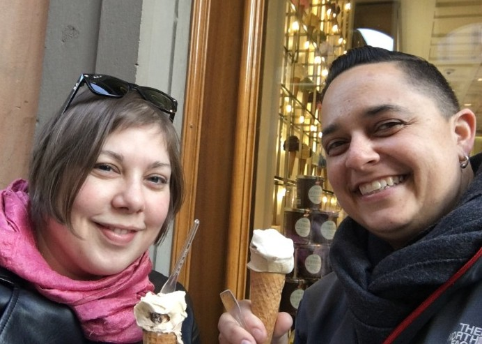 Eating gelato every chance we got! (For educational purposes, of course!)