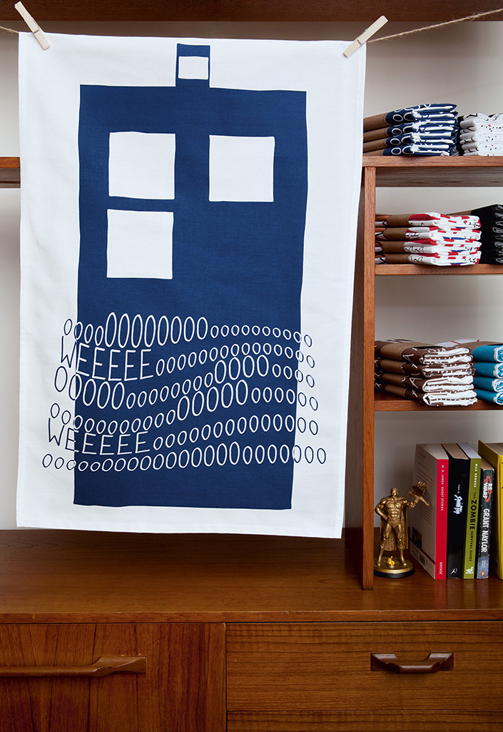 Tardis T-Towel from TannenBrown