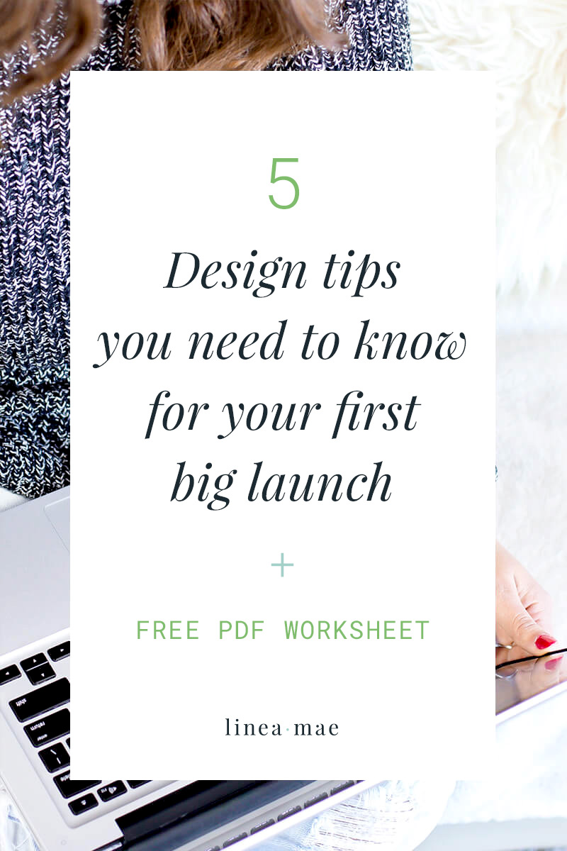 These 5 design tips for your next launch will help you sell your upcoming offer. Whether you are launching an e-book, e-course, service, or product, this design advice is easy to take action on. Not a designer? Not a problem. This launch design advice is all about simple, but important, design decisions you'll need to make. PLUS, download a free design cheat sheet to have on hand as you work through your launch design.