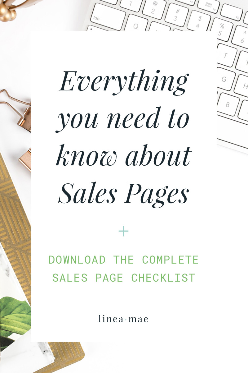 If you aren't sure about where to start with sales pages or you're just getting ready to launch something new, these tips are for you. I take you through each section you need for your sales page, along with exactly HOW your audience should experience it. Not to mention I give you my top 3 copywriting tips and top 3 design tips for sales pages. The free download is the exact checklist I use with my custom sales page clients. This is the checklist I personally go through when creating pages that look amazing and drive sales. Combined with sales funnels and precise marketing, it's skyrockets your business.