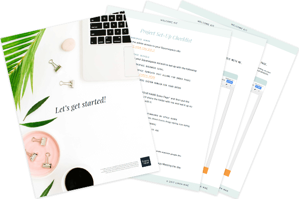Linea Mae design client welcome kit