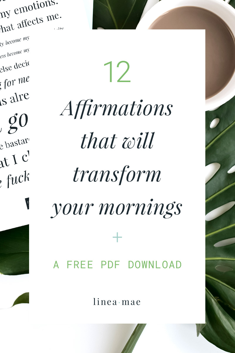 Here's an easy, printable, affirmations list to transform your morning. This list is a great way to get started with affirmations, as a part of you venture into the law of attraction, or to simply start your day off with a positive mindset. Affirmations don't need to be overwhelming, these can be read together or used on their own.