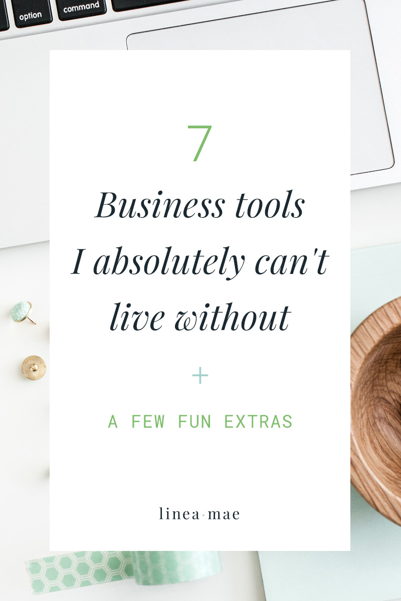 Are you using the best tools for your business? Or are you struggling to find your rhythm in a sea of free apps and subscriptions you don't know that much about? My rule of thumb is to test something out for 3 months and if it doesn't make my life/biz better I get rid of it. Here are 7 business tools that pass the test and that I use everyday to grow my online business.