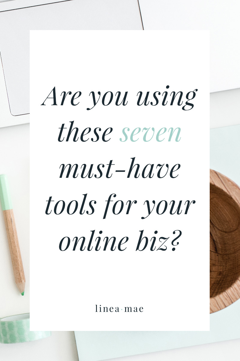 Are you using these 7 must-have business tools? Are you using the best tools for your business? Or are you struggling to find your rhythm in a sea of free apps and subscriptions you don't know that much about? My rule of thumb is to test something out for 3 months and if it doesn't make my life/biz better I get rid of it. Here are 7 business tools that pass the test and that I use everyday to grow my online business.