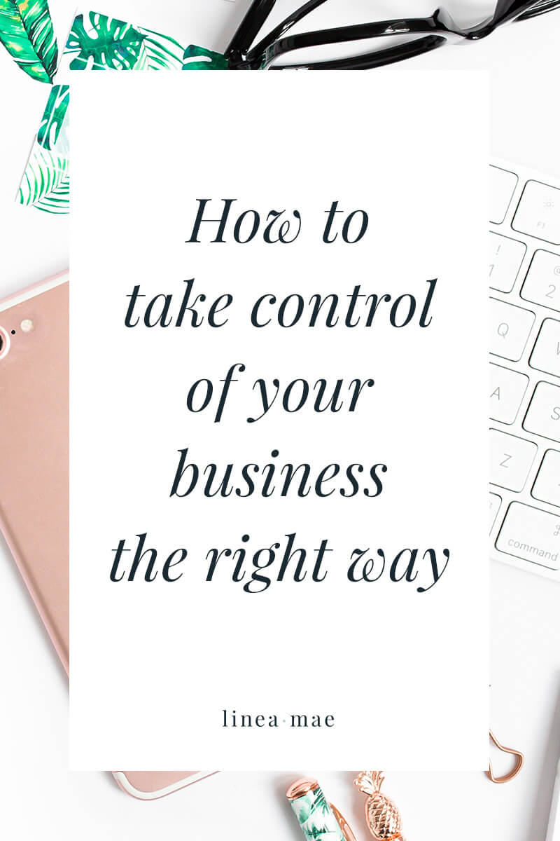 What does it mean to take control of your business... the right way? When growing your business you need to make sure that you have a path to profit. But more often than not, when you want to build your business it's easy to make dumb mistakes. Mistakes like spending time on things that don't make you money or doing work for free (eek)! Making more money and growing your business is built from good decision making. Click through to read this simple guide to make sure the decisions you make lead to actual business growth. These tips are basic, no-nonsense, and easy to start doing in your own biz.