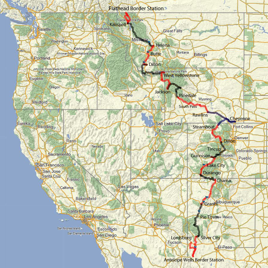 Continental Divide On Us Map.Continental Divide The Ride Of My Life