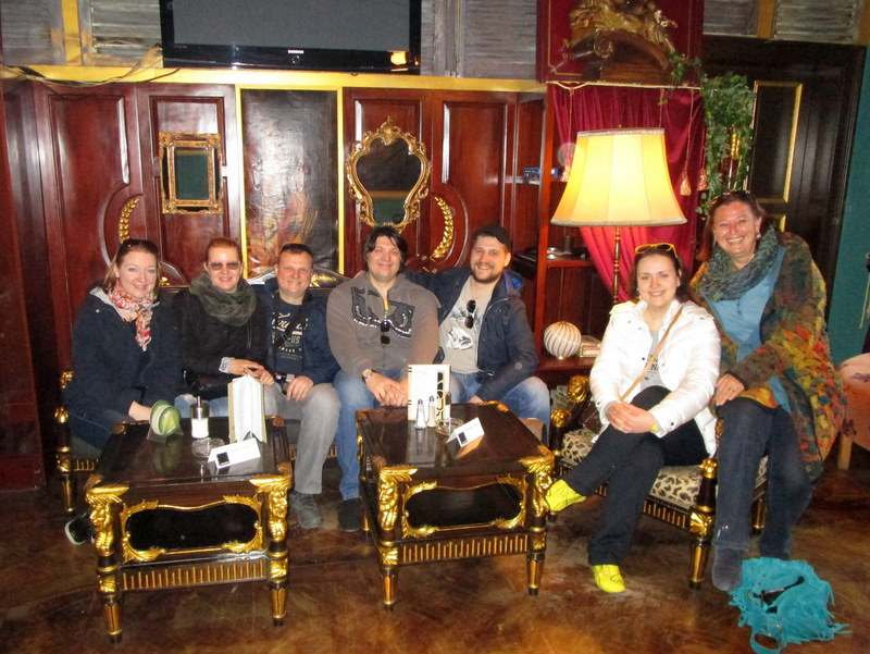 A Vienna Greeters group in the wonderful interior of Café Goldegg