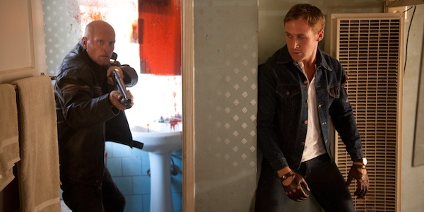 Ryan Gosling and an assailant in Nicolas Winding Refn's  Drive