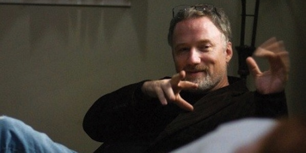 David Fincher on the set of The Social Network
