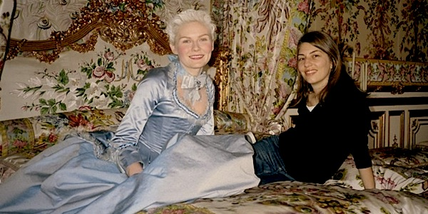 Sofia Coppola and Kirsten Dunst on the set of     Marie Antoinette