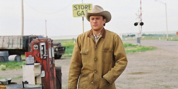 Heath Ledger in Ang Lee's     Brokeback Mountain