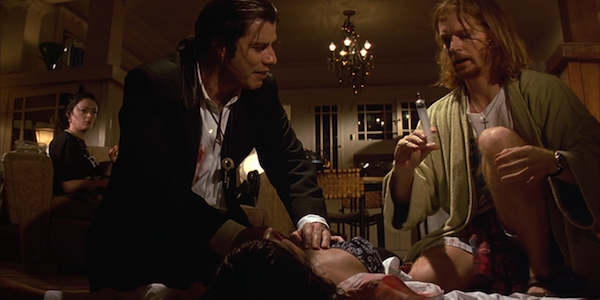 Bronagh Gallagher, John Travolta, Uma Thurman and Eric Stoltz in Quentin Tarantino's Pulp Fiction