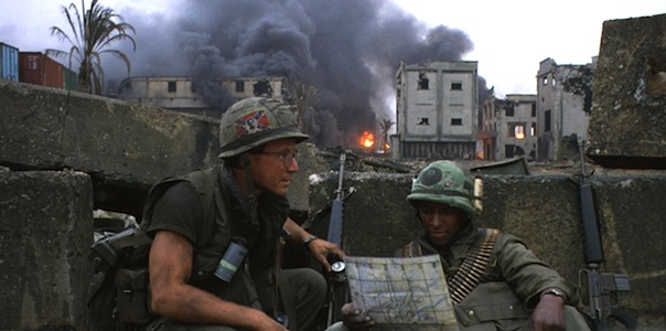 Arliss Howard and Dorian Harewood in Stanley Kubrick's  Full Metal Jacket
