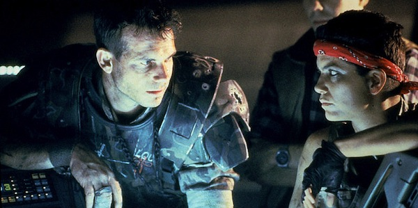 Bill Paxton and Jenette Goldstein in James Cameron's Aliens