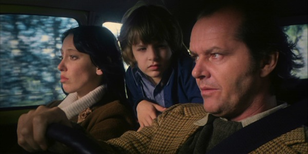Shelley Duvall, Danny Lloyd and Jack Nicholson in Stanley Kubrick's The Shining