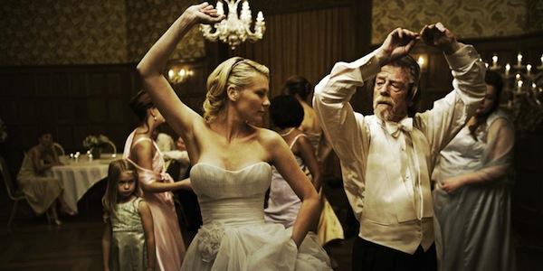 Kirsten Dunst and John Hurt in Lars von Trier's Melancholia