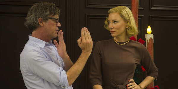 Todd Haynes directs Cate Blanchett on the set of  Carol