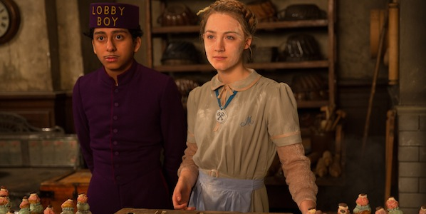 Tony Revolori and Mia Wasikowska in Wes Anderson's  The Grand Budapest Hotel