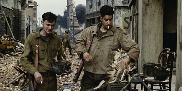 Jeremy Davies and Adam Goldberg in Steven Spielberg's Saving Private Ryan