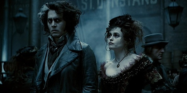 Johnny Depp and Helena Bonham Carter in Tim Burton's Sweeney Todd: The Demon Barber of Fleet Street