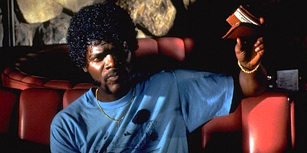 Samuel L. Jackson in Quentin Tarantino's Pulp Fiction