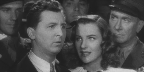 Eddie Bracken, Ella Raines and William Demearest in Preston Stuges' Hail the Conquering Hero.