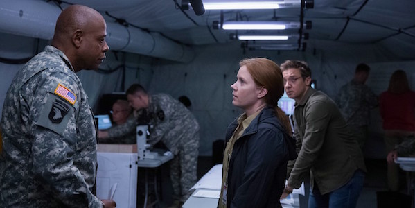 Forest Whitaker, Amy Adams and Jeremy Renner in Denis Villeneuve's Arrival