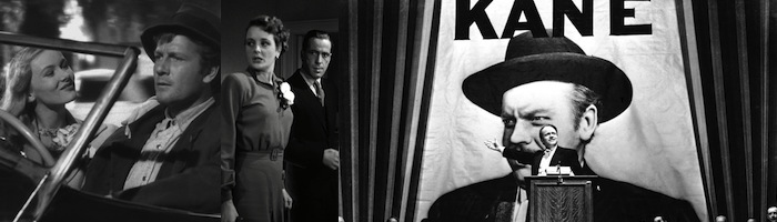 (left to right) Sullivan's Travels,The Maltese Falcon, Citizen Kane