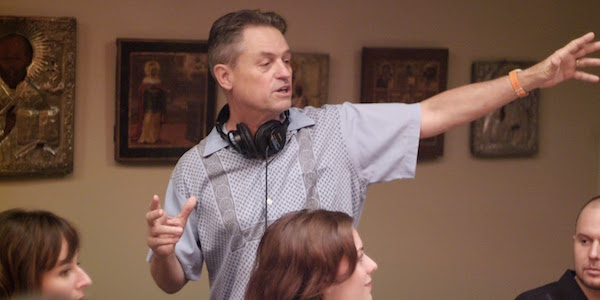 Jonathan Demme directs a dinner scene on the set of Rachel Getting Married