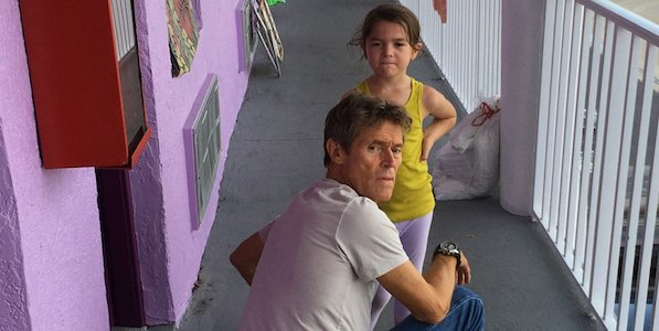 Willem Dafoe and Brooklynn Prince in Sean Baker's  The Florida Project