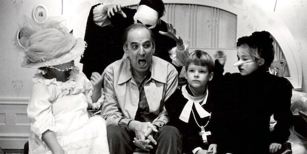 Ingmar Bergman on the set of  Fanny & Alexander