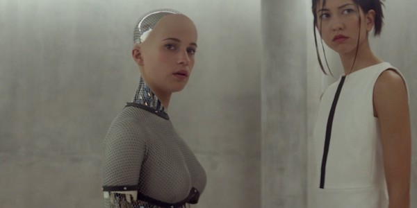 Alicia Vikander and Sonoya Mizuno in Alex Garland's  Ex Machina